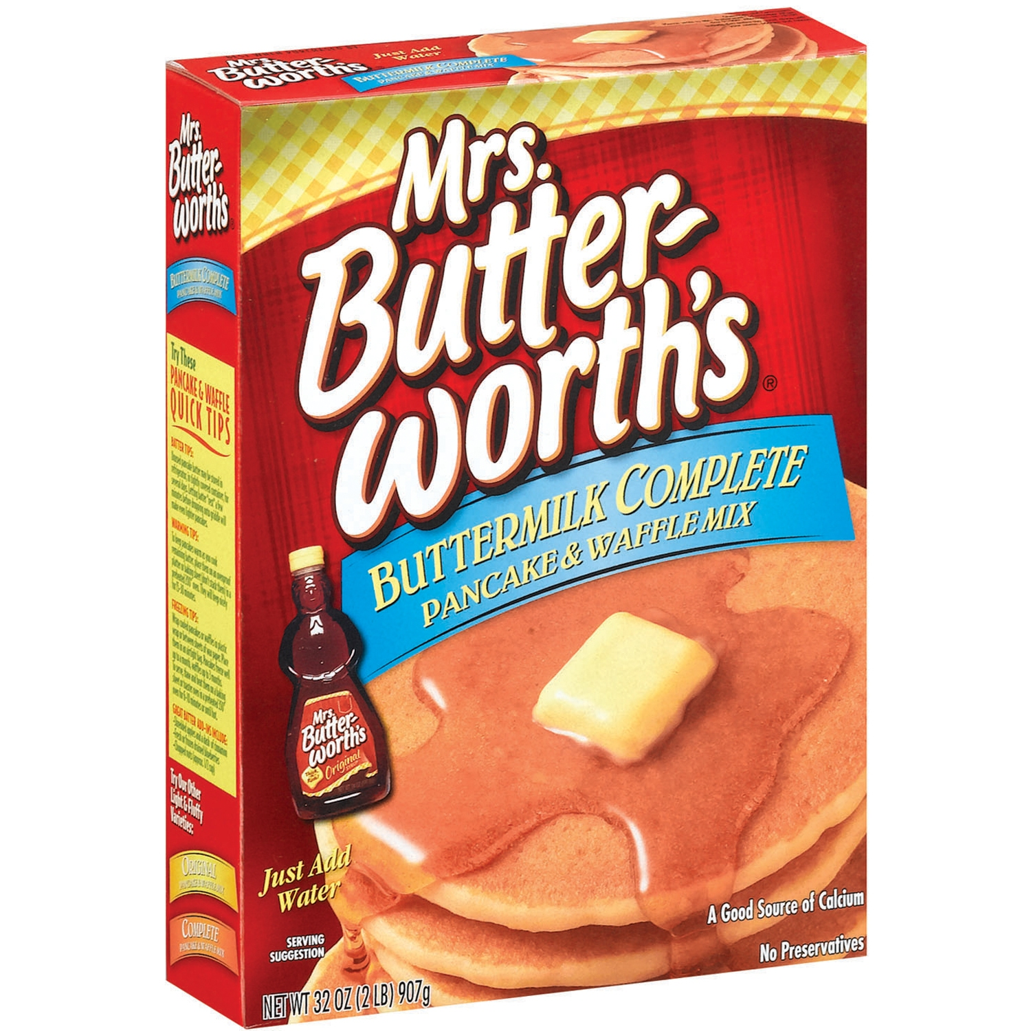 Mrs. Butterworth's Buttermilk Complete  Pancake & Waffle Mix 32 Oz Box