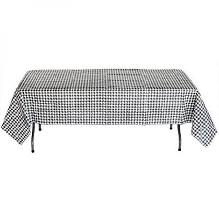 Water Resistant Bond Paper - Black and White Check Table cover (54