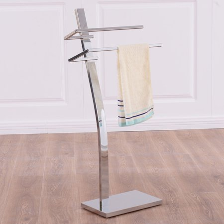 Costway 2 Tier Free Standing Floor Towel Holder