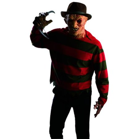 Nightmare On Elm Street Freddy Shirt And Mask Adult Costume (A Nightmare On Elm Street Costume)