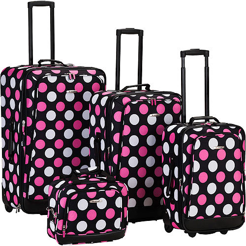 Rockland Luggage Escape 4 Piece Expandable Luggage Set, Multiple Colors