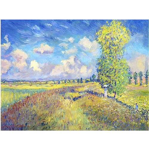 "Trademark Art ""Summer Field of Poppies"" Canvas Wall Art by David Lloyd Glover"