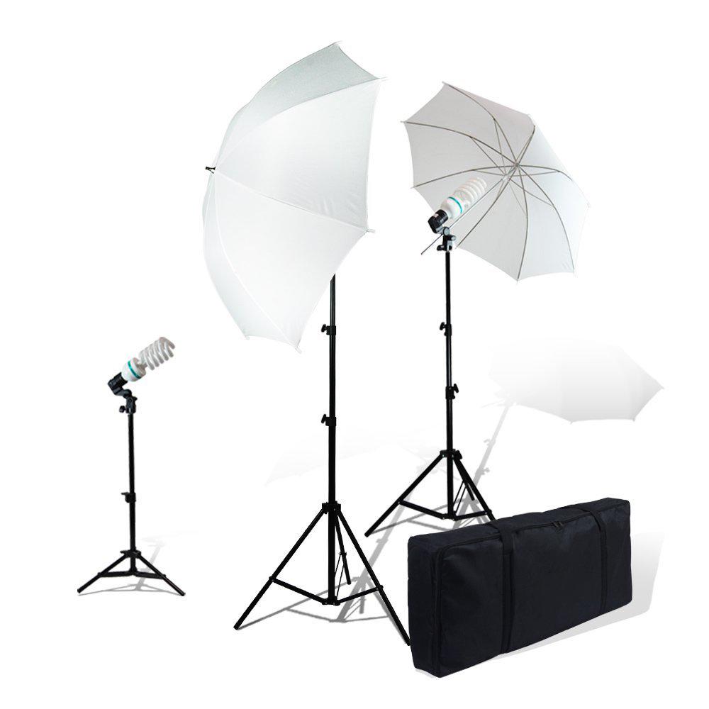 LimoStudio Photography Studio Video Portrait Umbrella Continuous Bulb Triple Lighting Kit, LIWA88