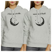 Moon And Back BFF Pullover Hoodies Matching Gift For Best Friends