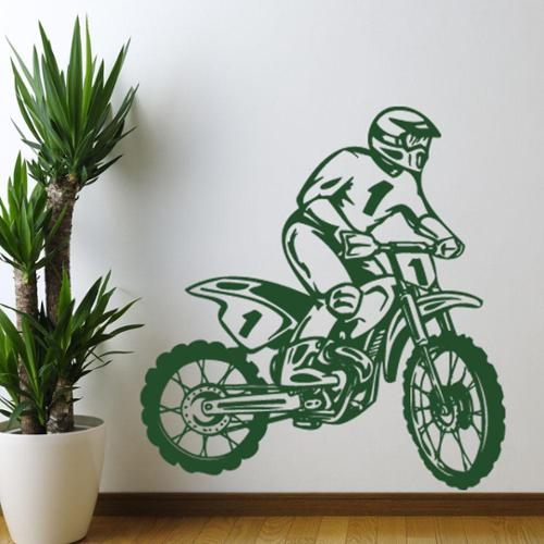 Style and Apply Dirt Bike Rider Sport Wall Decal