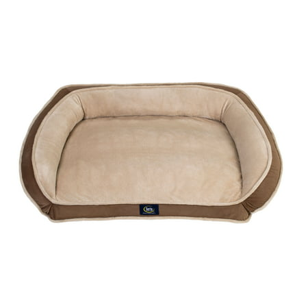 SertaPedic Memory Foam Couch Dog Bed (Color may - Dog Soft Round Bed