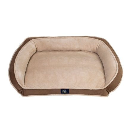 SertaPedic Memory Foam Couch Dog Bed (Color may vary)