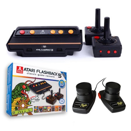Refurbished atari flashback 5 classic game console 92 built in games 2 classic controllers - Atari flashback 3 classic game console ...
