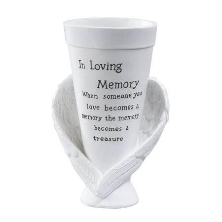 "Fox Valley Traders Memorial Cemetery Garden Vase by Maple Lane Creations, Resin, 10"" High x 5"" Diameter ()"