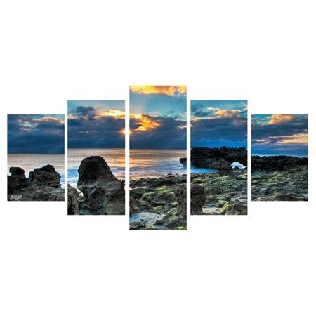 Ready2HangArt Sun Rise Canvas Wall Art - 5 pc. Set ()