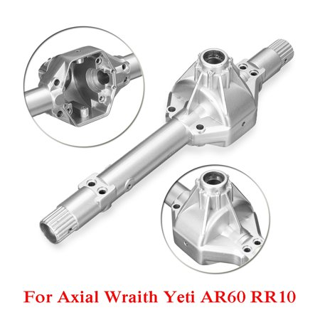 Chr Housing (Grtsunsea RC Car Steel Alloy Front Rear Axle Housing Replacement For 1/10 Axial Wraith Yeti AR60 RR10 Silver 7.1