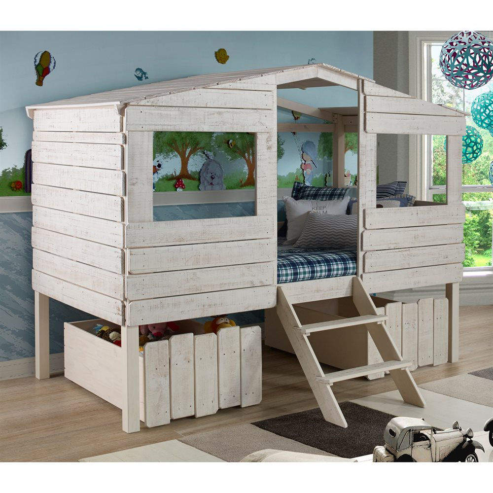 Pivot Direct PD_1380TLR Donco Kids Tree House Loft Bed