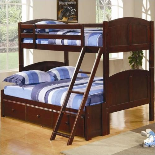 Coaster Parker Twin over Full Bunk Bed in Cappuccino Finish