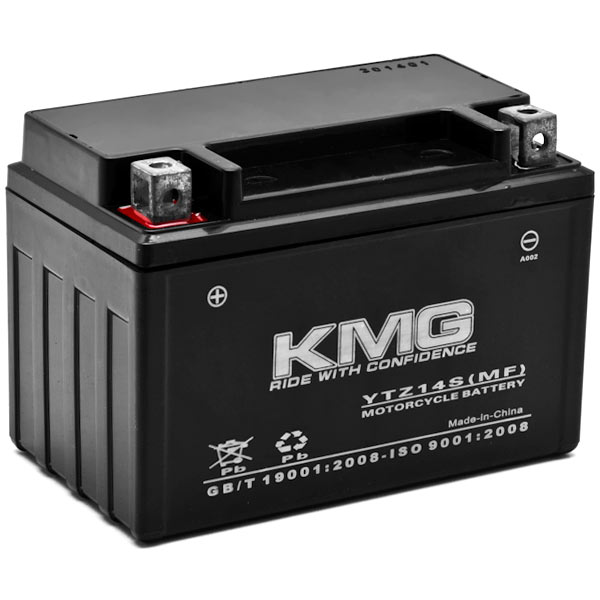 KMG Yamaha 950 XVS95CTY V Star 950 2009-2012 YTZ14S Sealed Maintenace Free Battery High Performance 12V SMF OEM Replacement Maintenance Free Powersport Motorcycle ATV Scooter Snowmobile KMG