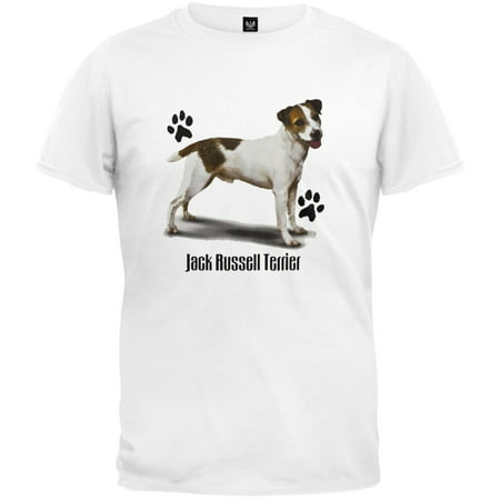 Jack Russell Terrier Profile White T-Shirt