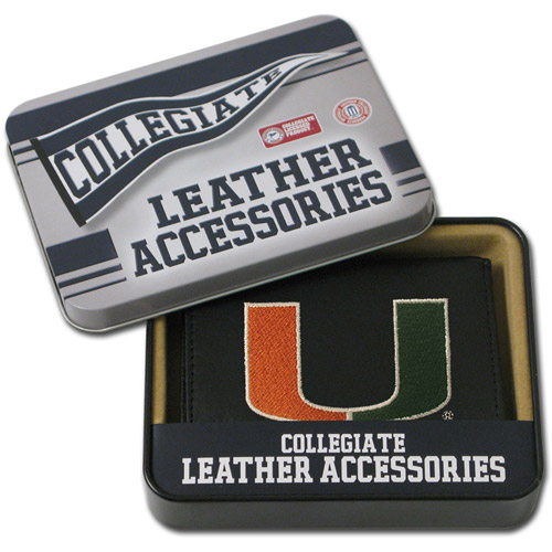 NCAA - Men's Miami Hurricanes Embroidered Trifold Wallet