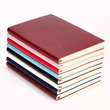 1Pcs Soft Cover PU Leather Notebook Writing Journal 100 Page Lined Diary Book,6 Color