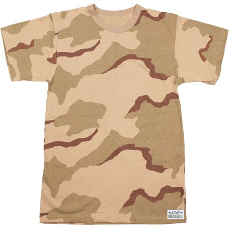 Army Universe - Tri-Color Desert Camouflage Short Sleeve T-Shirt with ARMY  UNIVERSE Pin - Size Medium (37