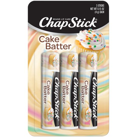 (3 pack) ChapStick Lip Balm, Limited Edition, Cake Batter, 3 Count ()
