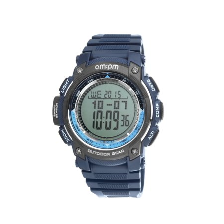 PC167-G407 Men's Outdoor Gear Blue Digital Sports Watch Barometer, Altimeter & (High Gear Aerial Altimeter)
