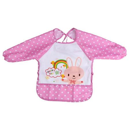 Oversized Baby Bibs Long Sleeved Bibs Cute Food Waterproof Bibs with Sleeves  For 1-3 Years Old(pink) - Walmart.com acb082904