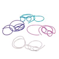 Fun Express - Glasses Straws - Party Supplies - Drinkware - Straws - 12 Pieces