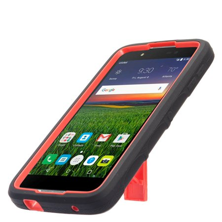Alcatel Idol 4 phone case, by Insten Symbiosis Stand Rubber