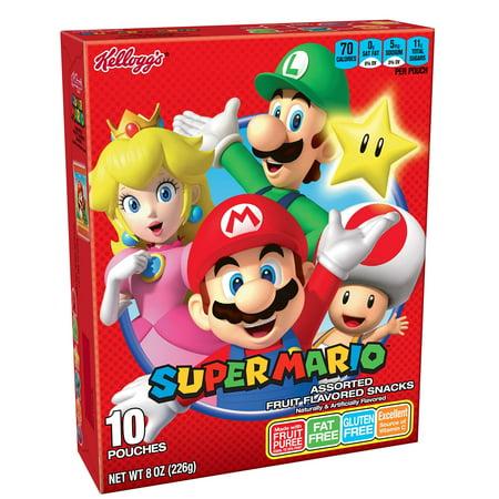 Kellogg's Super Mario, Fruit Snacks, Assorted Fruit Flavored, Gluten Free, Fat Free, 8oz Box (10 - Amazing Fruit