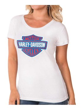 38b4cbd4 Product Image Harley-Davidson Women's RWB Bar & Shield Logo Short Sleeve Tee  - White, Harley
