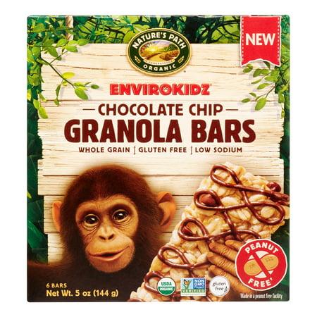 Envirokidz Organic Milk Chocolate Chip Bar, 6 - Envirokidz Organic