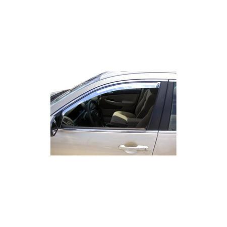 Putco 480422 Window Visor For Honda Accord, Chrome In-Channel Mount Type