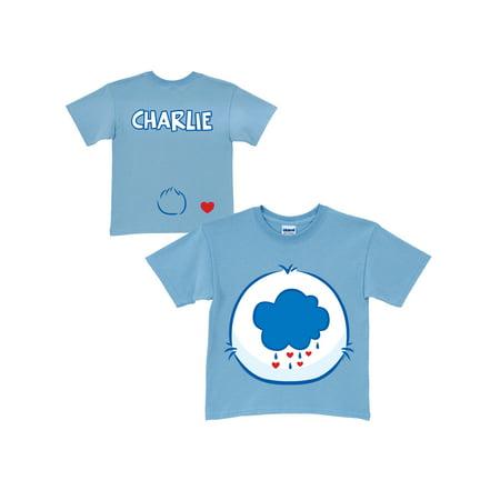 Personalized Care Bears Grumpy Bear Belly Badge Toddler Light Blue T-Shirt](Grumpy Care Bear)