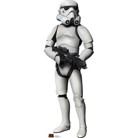 Star Wars Rebel Stormtrooper Cartoon Lifesize Standup Standee Cardboard Cutout
