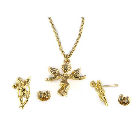 - Guardian Angel Necklace & Earring Set Christian Religious Jewelry Secret Angel Gift Present