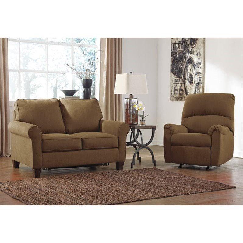 Ashley Zeth 2 Piece Fabric Twin Size Sleeper Sofa Set in ...