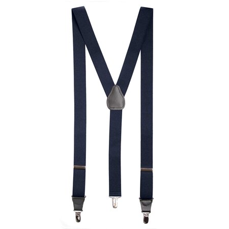 b956d756e93 Hold Em - Hold Em Suspender for Men Made in USA Y-Back Genuine Leather  Crosspatch Clip on tuxedo suspenders Many Colors Available - Walmart.com