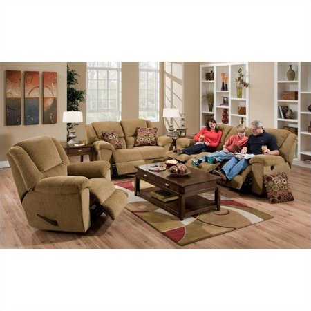 Groovy Catnapper Transformer 3 Piece Recline Sofa Set In Beige Pabps2019 Chair Design Images Pabps2019Com