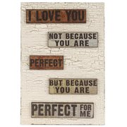 Blossom Bucket 'I Love You' Sign Wall D cor with Easel