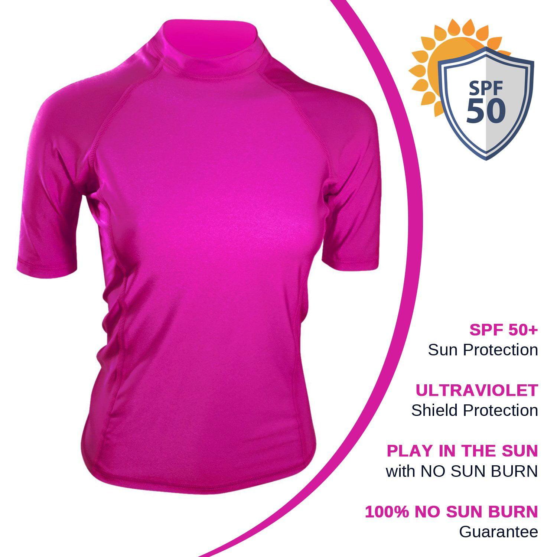 4735ed6d63acd Goddess Rash Guards - Swim Shirt For Women - USA Made Swim & Workout  Shirt. UV Sun Protection For Everyday Workouts & Outdoor Fun -  Walmart.com