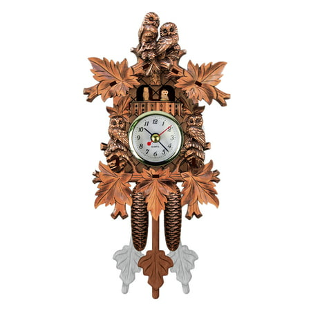 Bird 1 Day Cuckoo Clock - Cuckoo Wall Clock Bird Wood Hanging Decorations for Home Cafe Restaurant Art Vintage Chic Swing Living Room Style 4