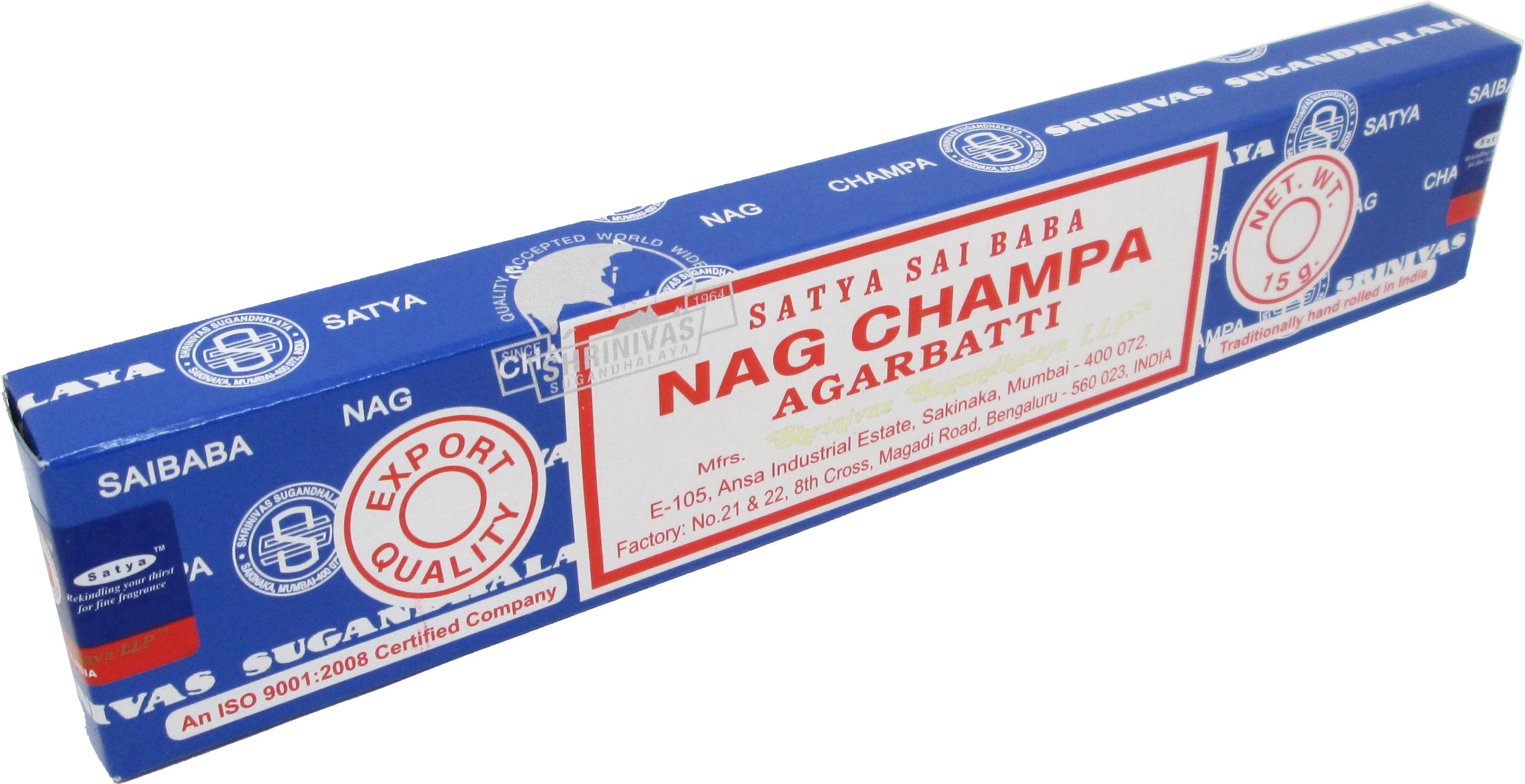Satya Sai Baba Classic Nag Champa Agarbatti Incense Sticks 15 Sticks Per Box Brown 15 G Walmart Com Walmart Com