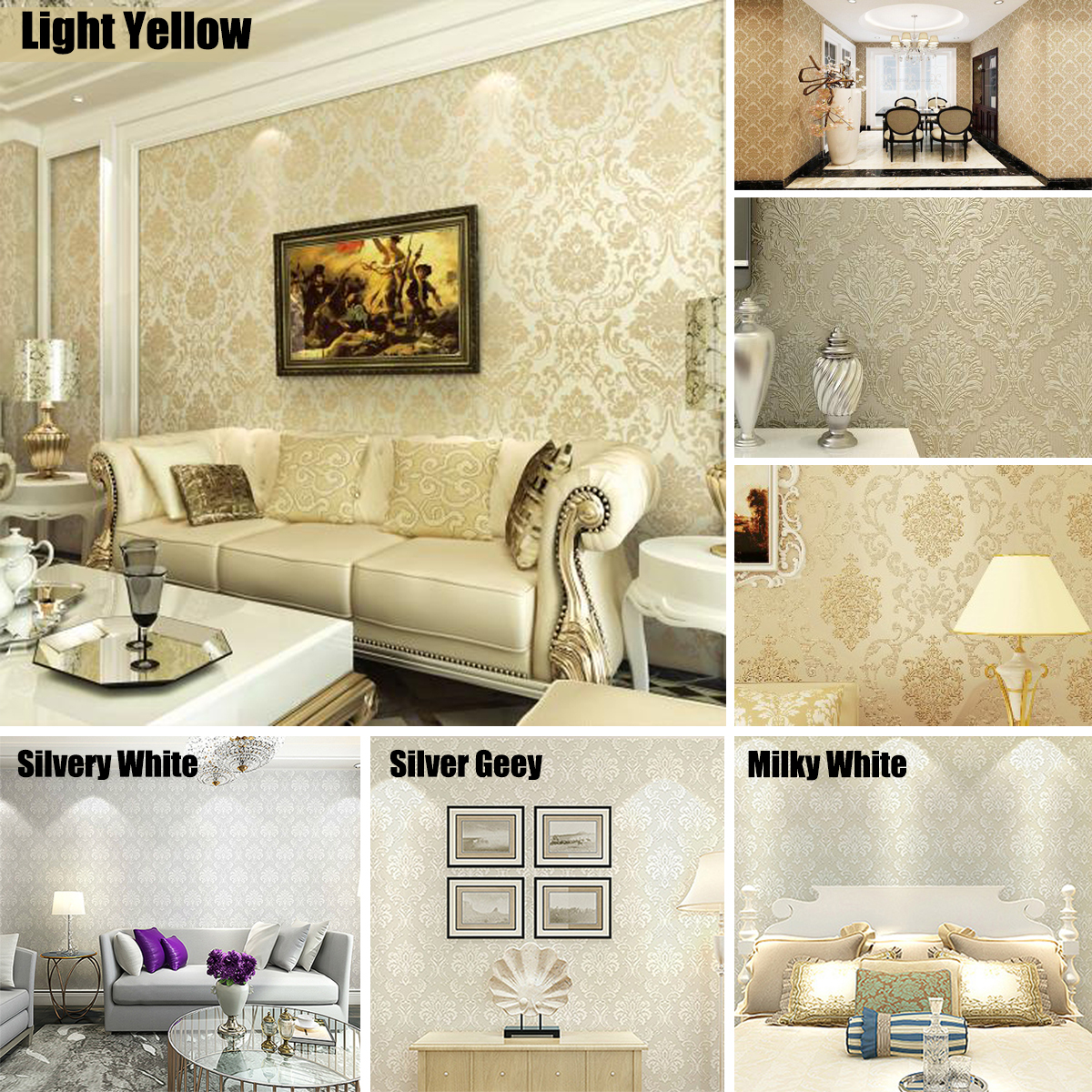 Home Improvement Non-Woven 3D Home Decor Wallpaper for ...