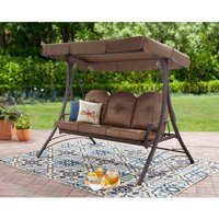 Clearance Product Image Mainstays Wentworth 3 Person Cushioned Canopy Porch Swing Bed
