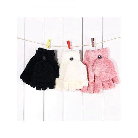 Girl12Queen Women's Fashion Coral Fleece Hand Wrist Warmer Winter Fingerless Soft - Womens Fingerless Gloves