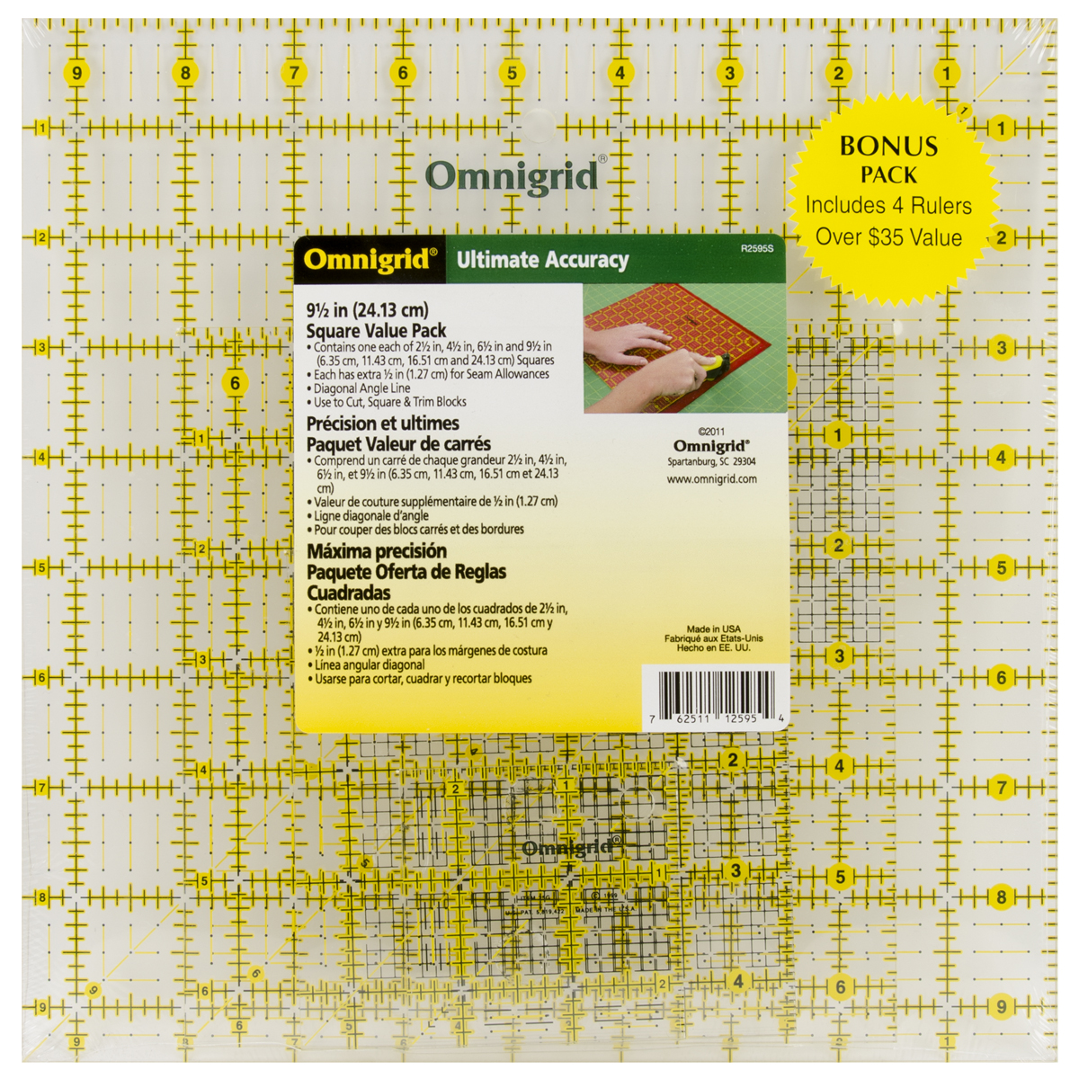 Dritz Omnigrid Ruler Value Pack, 4 Count