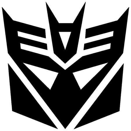 Decepticon Decal (2x BLACK Transformers Decepticon Vinyl Decal Sticker Car Hood Window Laptop iPad )