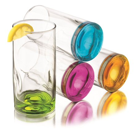 Impressions Cooler Glass (Libbey Impressions Colors Cooler Glass Set, 4-Piece )