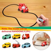 1PC Magic Pen Inductive Car children's Train Tank Toy Car Draw Lines with Educational Toy Marker Pen Kids Gift