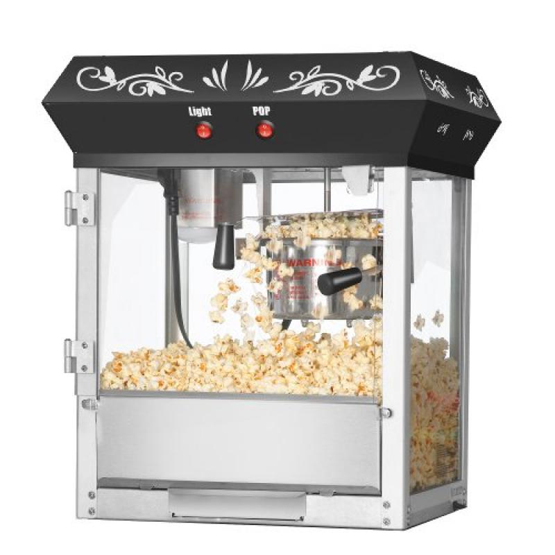 Great Northern Popcorn Black Foundation Top Popcorn Popper Machine, 4 Ounce