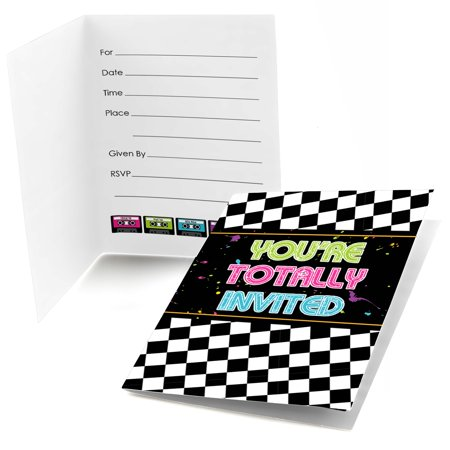 80's Retro - Fill In Totally 1980s Party Invitations (8 count)